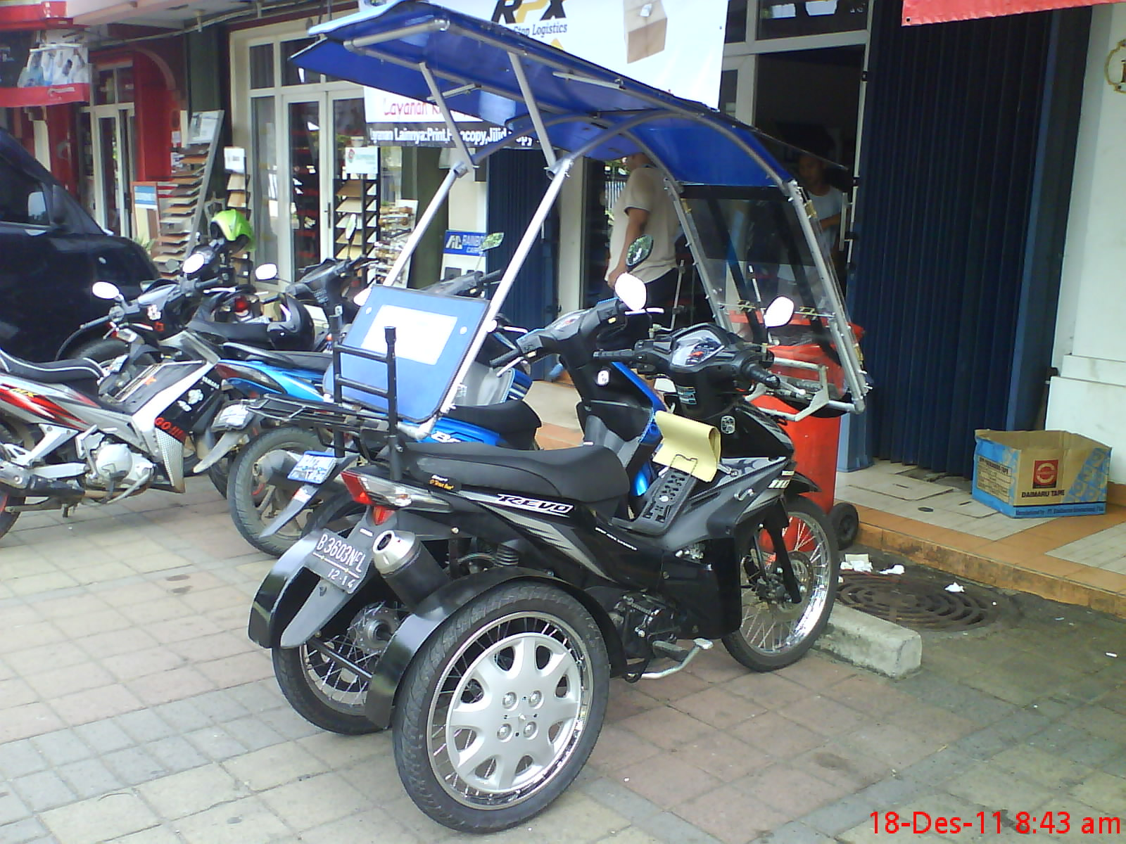 contoh motor modifikasi roda 3